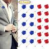 12PC Men's Handmade Rose Flower Lapel Brooch Pin Suit Tuxedo Wedding Boutonniere