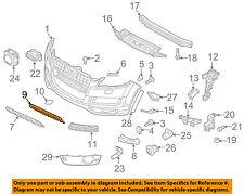 AUDI OEM 10-15 Q7 Front Bumper-Lower Bottom Grille Grill 4L0807683E01C
