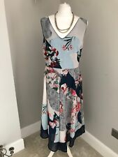 rocha john rocha Dress Uk Size 20 BNWT £65 Floral Print Zip Wedding Christening