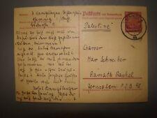 jewish judaica WW2 letter germany to palestine Juden gemeinde Holocaust 1939