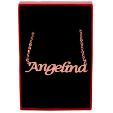Angelina - Rose Gold Name Necklace - Personalized Jewellery - Stylish ID Gifts