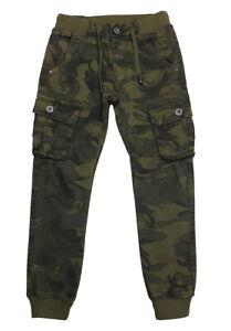 Jungen Army Hose, Cargo Stretch Hose,  camouflage Muster  *NEU* J5846a