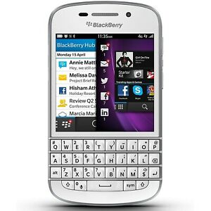 NEW BlackBerry Q10 - White (Unlocked) 4G LTE GSM WiFi Qwerty Touch Smartphone