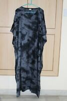Long Kaftan Plus Size Women Maxi Gown Night Dress Tie-Dye Multi Colour Caftan