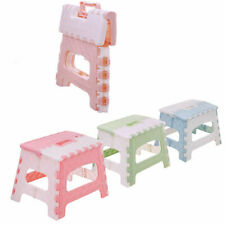 Large Collapsible Folding Plastic Kitchen Step Foot Stool w/ Handle Adults/Kids