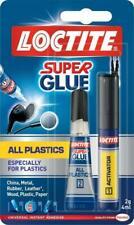 LOCTITE Super Glue All Plastics. Universal Instant Adhesive & Activator 2g & 4ml
