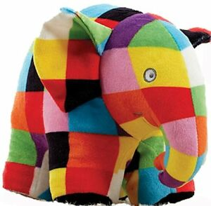 Elmer the Patchwork Elephant Baby Soft Toy Newborn Gift Comforter Blanket Plush