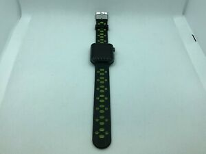 Apple Watch Series 1 Space Gray Sport 42mm Black/Green Non-OEM Band - Very Good