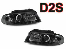 DEPO Audi 1999-2001 A4/00-02 S4 B5 Black Clear Corner D2S Xenon Headlights