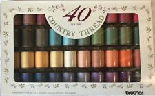 Brother Country Embroidery Machine Threads Box of 40 CYT40 XG6561001 - B247