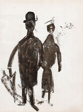 "Marvelous Francisco Bores 1952 Original Lithograph ""A Proper Stroll"" FRAMED COA"