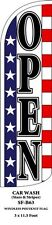 Open (Stars & Stripes) Feather Flags Banner Sign Same Day Ship