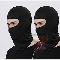 2 Pack Men's Black Face Mask 100% Cotton Ski Motorcycle Bike Balaclava