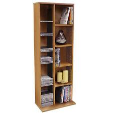 Hudson Media CD DVD Storage Shelf Unit BEECH MS0010
