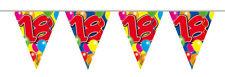 Wimpelkette 10m Zahl 18 Jahre Geburtstag Deko Party Girlande