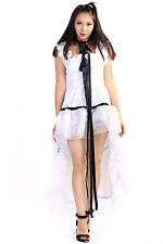 "Chobits Cosplay Costume ""Elda"" Chii Outfit Dress White Ver Set"
