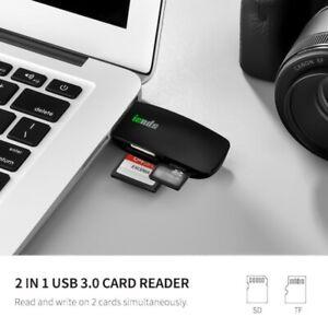 Card Reader USB 3.0 Super Speed Multi-Card Reader SD/SDHC/SDXC/MS/CF Cards,Black