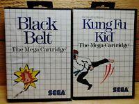 Black Belt & Kung Fu Kid Sega Master System Video Game Lot Tested Working