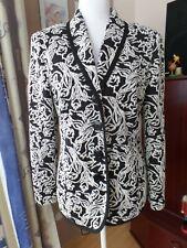 Atelier Goldener Schnitt Damen Blazer Jacke schwarz/weiß Gr. 42 neu!!
