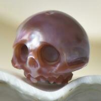 11.00 mm Human Skull Bead Carving Kasumi-like Freshwater Pearl 1.92 g drilled