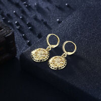 4c8714f84 U7 Antique Coin Style Drop Dangle Earrings 18K Yellow Gold Plated Women  Jewelry