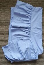 Blue Double bed sheet. Fitted Valance Sheet. Cotton Blend