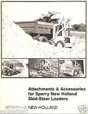 Equipment Brochure Sperry New Holland Skid Steer Loader Attachments E1382