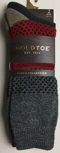 Mens Gold toe Lodge Collection Socks 6-12 1/2 NWT Polyester Blend Repreve
