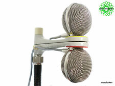 GRUNDIG GDSM200 / SENNHEISER MDS1 / MD409 - 60's VINTAGE Stereo mic Refurbished