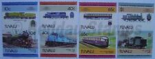 1985 TUVALU Set #5 Train Locomotive Railway Stamps (Leaders of the World)