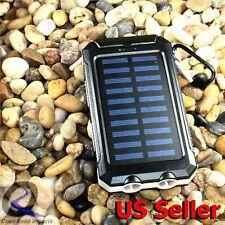 2020 Waterproof Solar Power Bank 20000mAh Portable External Battery Charger US