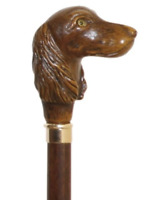 American Cocker Spaniel Walking Stick Collectors Dog Breed Wooden Carved Cane ✅