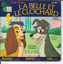 LIVRE DISQUE--WALT DISNEY--LA BELLE ET LE CLOCHARD--JEAN PIERRE CASSEL