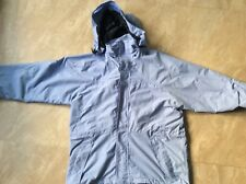 Mens light blue James Oliver hooded waterproof windproof all-weather coat size L