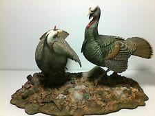 "Danbury Mint ""Autumn Rivals"" by Nick Bibby Wild Turkey Sculpture"