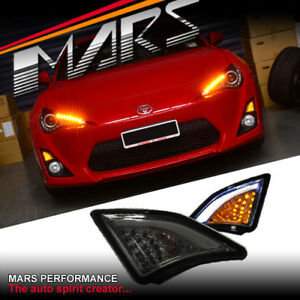 Smoked LED Bumper Indicator lights Turn Signal Marker for Toyota 86 GT GTS 12-16