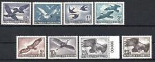 AUSTRIA , 1950 , 1052 , 1953 , BIRDS , scarce full set of eight STAMPS ,  MNH !