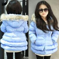 Niño Bebé cálido de invierno Abrigo Capucha Grueso chaqueta parka Traje nieve