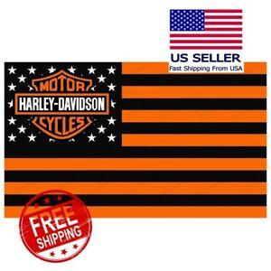 Harley Davidson Flag Banner 3 X 5 ft Grommets  FREE SHIPPINGDigital Printed