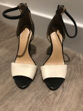 Heavily Worn Zara Black And White Sandal High Heels Strappy