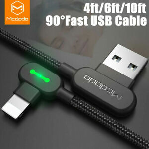 Mcdodo 90 Degree LED Game Cable Fast Charge Data USB for iPhone 12/11/XS/X/8/7