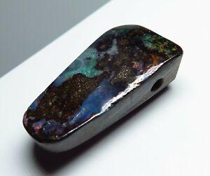 Australian Boulder Opal 30.21ct Drilled Pendant