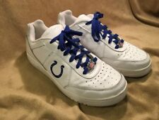 Reebok NFL Indianapolis Colts White Leather Lace Up Sneakers Shoes Mens Size 8