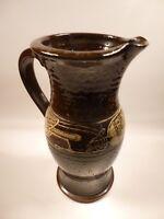 Vintage Treacle Glaze Jug - Celtic / Bird Design
