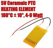 Compact 5V 4W-9W 180°C PTC Ceramic Heating Element.  UK Stock.