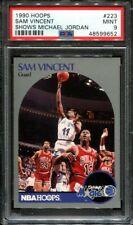 1990-91 NBA Hoops #223 Sam Vincent w/ Michael Jordan - PSA 9 MINT HOT CARD 1990