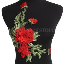 Embroidered Rose Flower Sew On Lace Patch Badge Bag Jeans Jacket Dress Applique