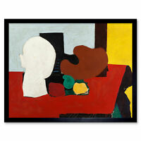 Gorky Still Life Red Yellow Abstract Painting Framed Wall Art Poster