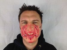 Funny Half Face Nails Pain Mask Bleeding Mouth Lips Fancy Party Masks