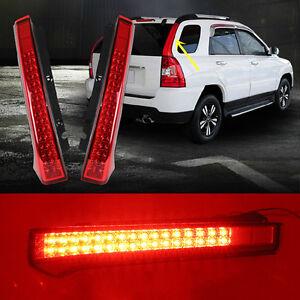 For Kia Sportage 2005-2010 Red LED Car Taillight Brake Lamp Rear Bumper 2pcs